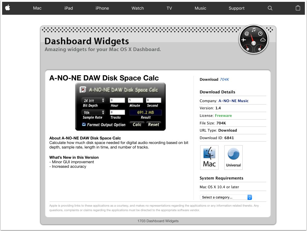 Apple---Downloads---Dashboard-Widgets---A-NO-NE-DAW-Disk-Space-Calc